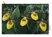 Yellow Lady Slippers On Forest Floor Carry-all Pouch