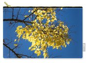 Yellow Leaves In Fall And Deep Blue Sky Carry-all Pouch