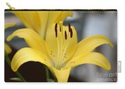 Yellow Lilly Carry-all Pouch