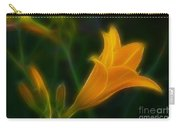 Yellow Lily 6011-fractal Carry-all Pouch