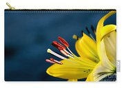 Yellow Lily Stamens Carry-all Pouch by Robert Bales