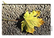 Yellow Maple Leaf On Asphalt Carry-all Pouch