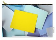 Yellow Memo Carry-all Pouch by Carlos Caetano