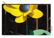 Yellow Metal Garden Flower Carry-all Pouch