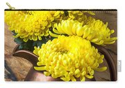 Yellow Mums In Copper Vase Carry-all Pouch