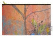 Yellow Peace Bird On Orange Carry-all Pouch