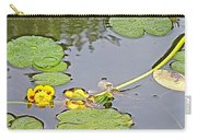 Yellow Pond Lilies On Lake Yellowhead Along Yellowhead Highway-b Carry-all Pouch