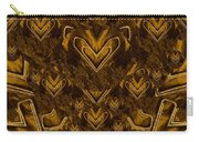Yellow Pop Art Hearts Carry-all Pouch