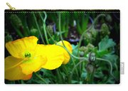 Yellow Poppy Xl Format Floral Photography Carry-all Pouch