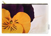 Yellow Purple Pansy Carry-all Pouch