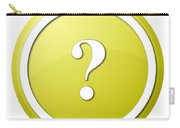 Yellow Question Mark Round Button Carry-all Pouch