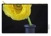 Yellow Ranunculus In Black Vase Carry-all Pouch