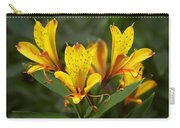 Yellow Red Flower Carry-all Pouch