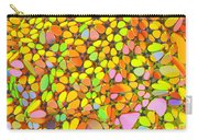 Yellow Red Green Blue Digital Flower Mesh Carry-all Pouch