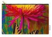 Yellow Red Mum With Yellow Black Butterfly Carry-all Pouch
