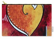Yellow Red Orange Heart Love Painting Pop Art Love By Megan Duncanson Carry-all Pouch by Megan Duncanson