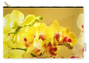 Yellow Red Orchid Flowers Art Prints Orchids Carry-all Pouch