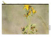 Yellow-red Wildflower With Texture Carry-all Pouch