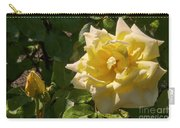 Yellow Rose And Bud Carry-all Pouch