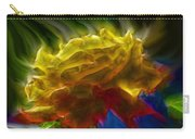Yellow Rose Series - Colorful Fractal Carry-all Pouch