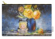 Yellow Roses And Headvase Girl Carry-all Pouch
