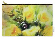 Yellow Roses Carry-all Pouch by Kathy Braud