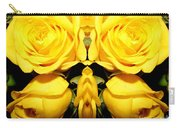Yellow Roses Mirrored Effect Carry-all Pouch
