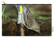 Yellow-rumped Warbler Drinking Carry-all Pouch