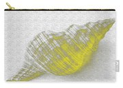 Yellow Seashell Carry-all Pouch