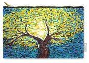 Yellow Squiggle Tree Carry-all Pouch