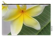 Yellow Star Plumeria Carry-all Pouch