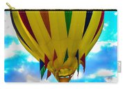 Yellow Striped Hot Air Balloon Carry-all Pouch
