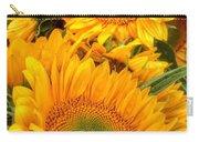 Yellow Sun Flower Burst Carry-all Pouch