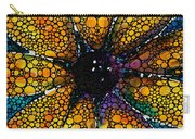 Yellow Sunflower - Stone Rock'd Art By Sharon Cummings Carry-all Pouch