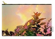 Yellow Sunrise And Flowers - Vertical Carry-all Pouch