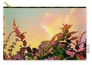 Yellow Sunrise With Flowers - Square Carry-all Pouch