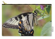 Yellow Swallowtail Butterfly Taking A Drink Carry-all Pouch