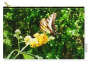 Yellow Swallowtail On Yellow Lantana Carry-all Pouch