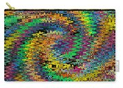 Orange Swirl Ripple Abstract Carry-all Pouch