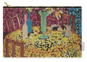 Yellow Table Carry-all Pouch by Karen Coggeshall