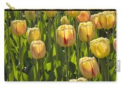 Yellow Tulip Flowers On Windmill Island In Holland Michigan Carry-all Pouch
