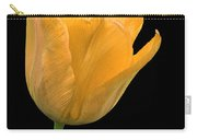 Yellow Tulip Open On Black Carry-all Pouch