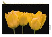 Yellow Tulip Triple Carry-all Pouch