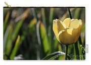 Yellow Tulip With Dew Carry-all Pouch