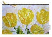 Yellow Tulips And Butterfly Carry-all Pouch