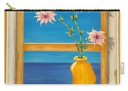 Yellow Vase With Sea View Carry-all Pouch
