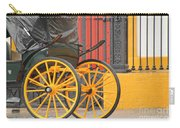 Yellow Wheeled Carriage In Seville Carry-all Pouch