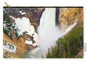 Yellowstone Falls In Spring Time Carry-all Pouch