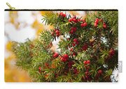 Taxus Baccata Or Yew Red Fruits On Twig  Carry-all Pouch