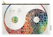 Yin And Yang - Colorful Peace - By Sharon Cummings Carry-all Pouch